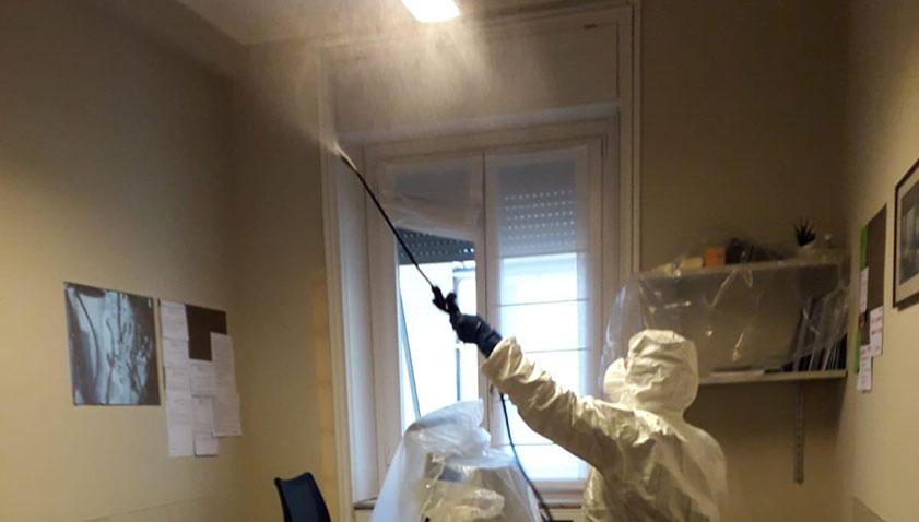 Sanificazione ufficio Coronavirus